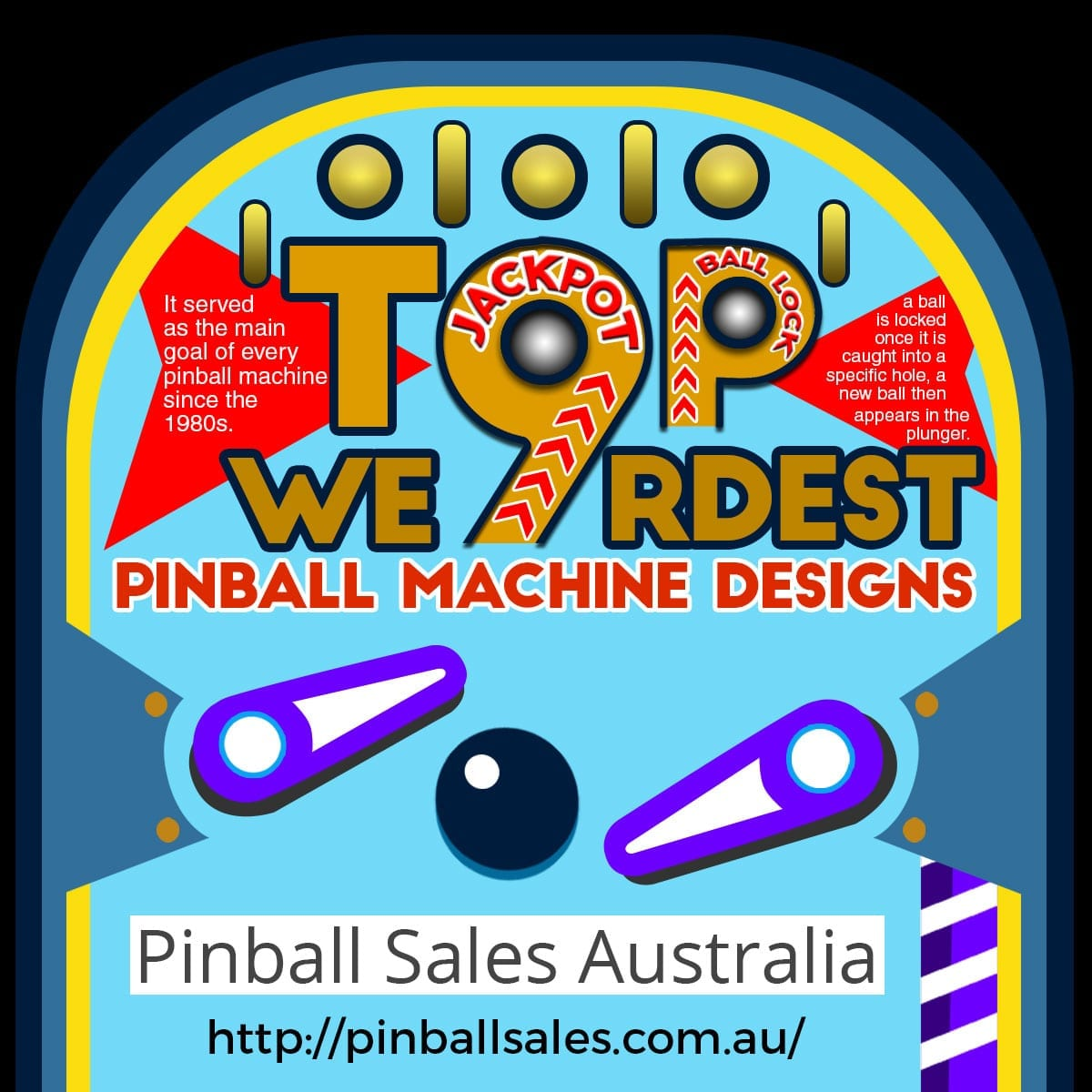 Weirdest Pinball Machine Infographic