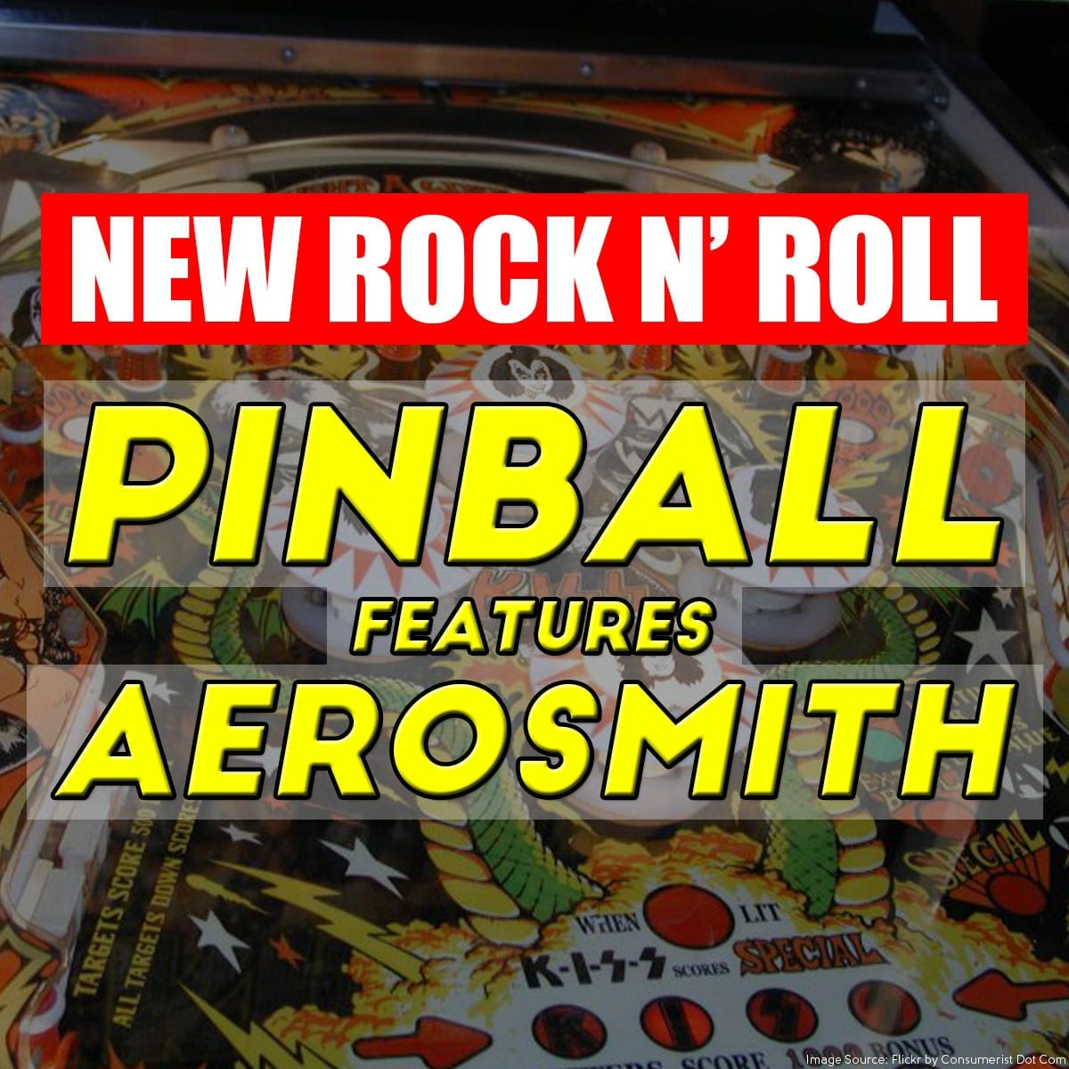 New Rock n' Roll Pinball features Aerosmith