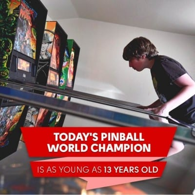 Pinball World Champion is as Young as 13 Years Old