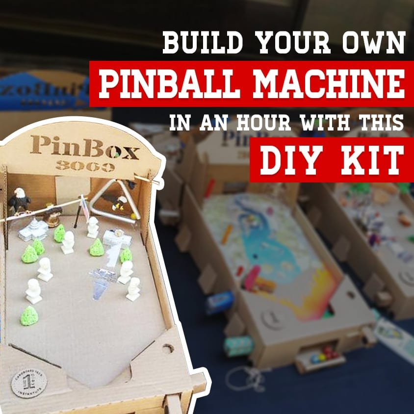 Build Your Own Pinball Machine in an Hour with This DIY Kit