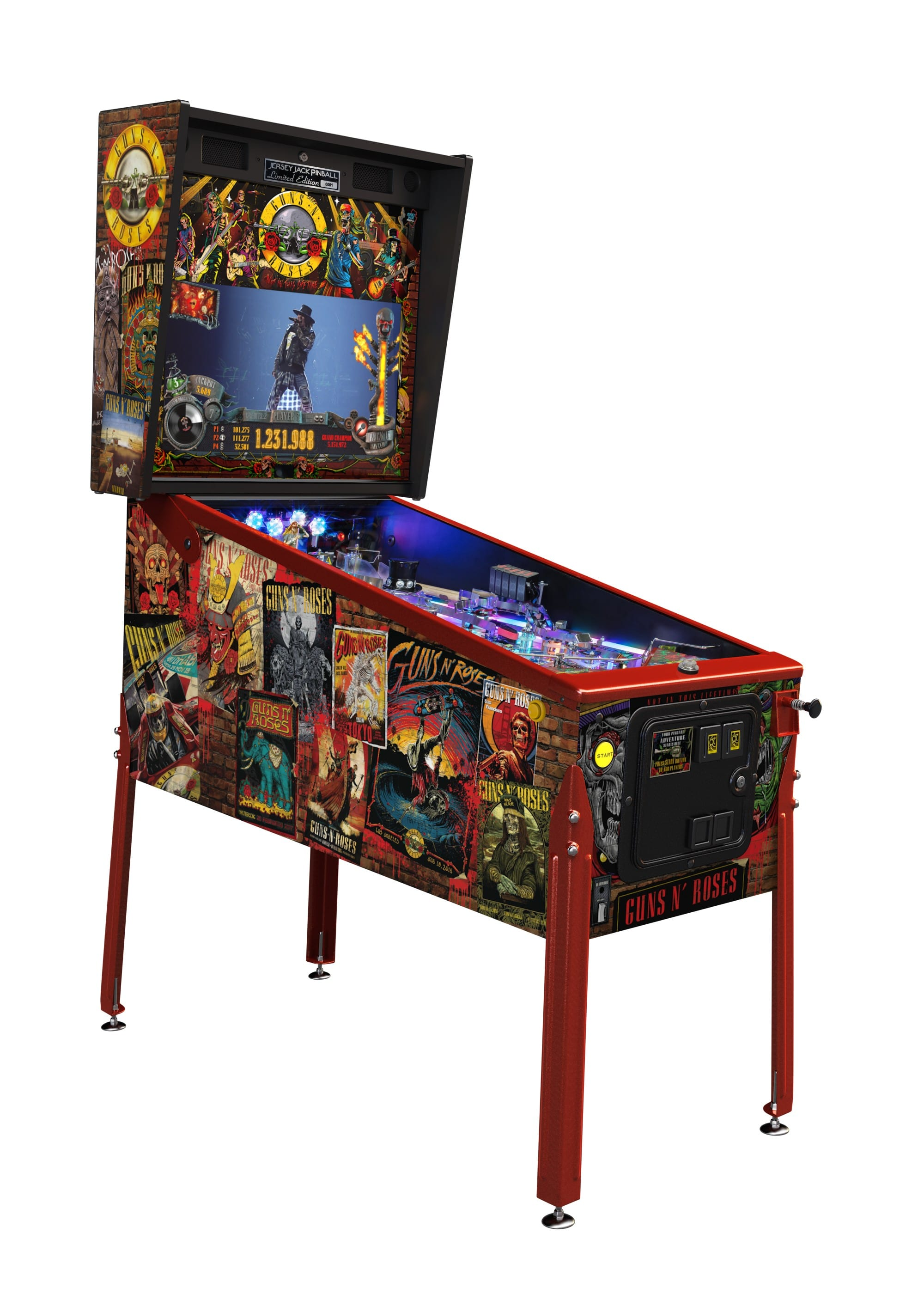 Limited edition guns and roses pinball machine for sale